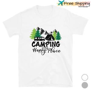 camping happy place shirt