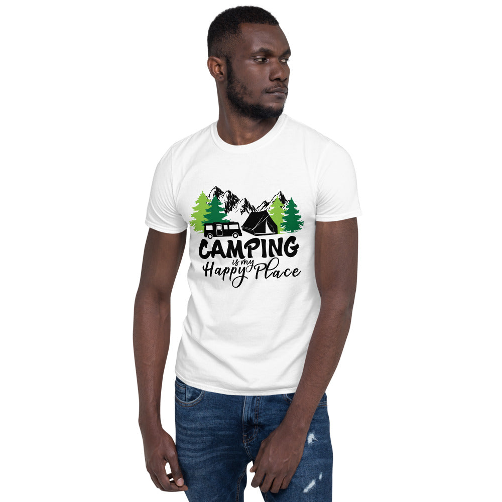 camping happy place shirt men