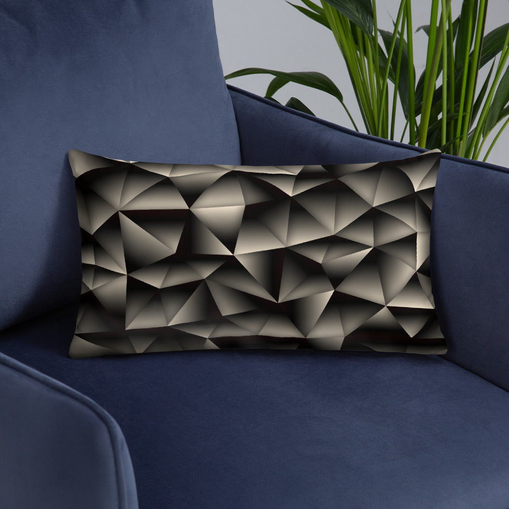 Black Abstract Throw Pillows