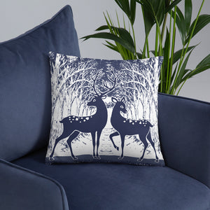 Wild Deer Throw Pillow