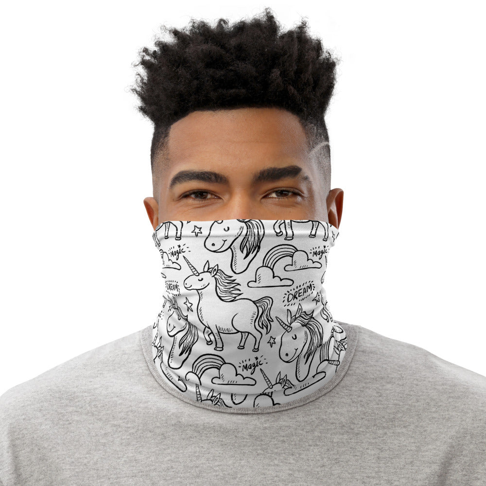 Unicorn Face Mask Neck Gaiter