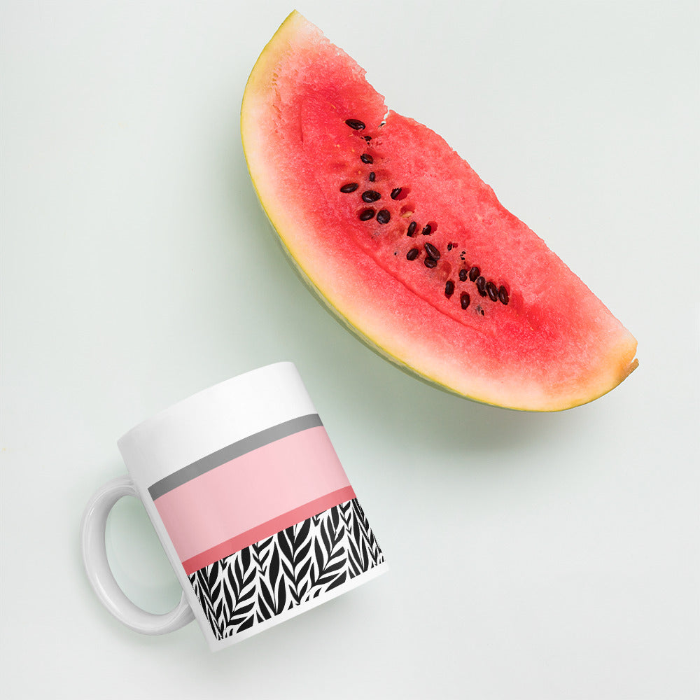 Pink Black Gray Coffee Mug