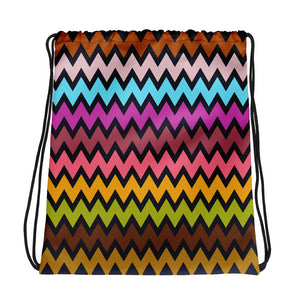 Colorful Zigzag Pattern Drawstring bag
