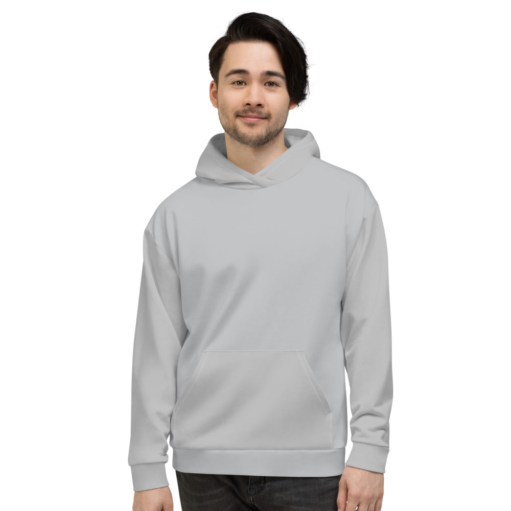 Light Silver Hoodies for Men
