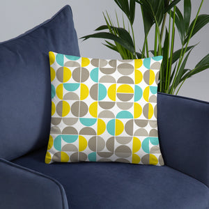 Yellow Abstract Throw Pillow