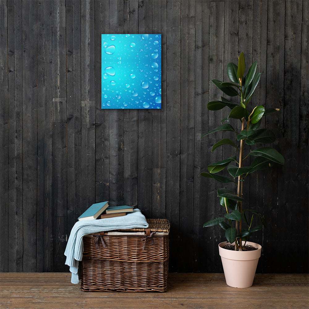 Water Drops Canvas