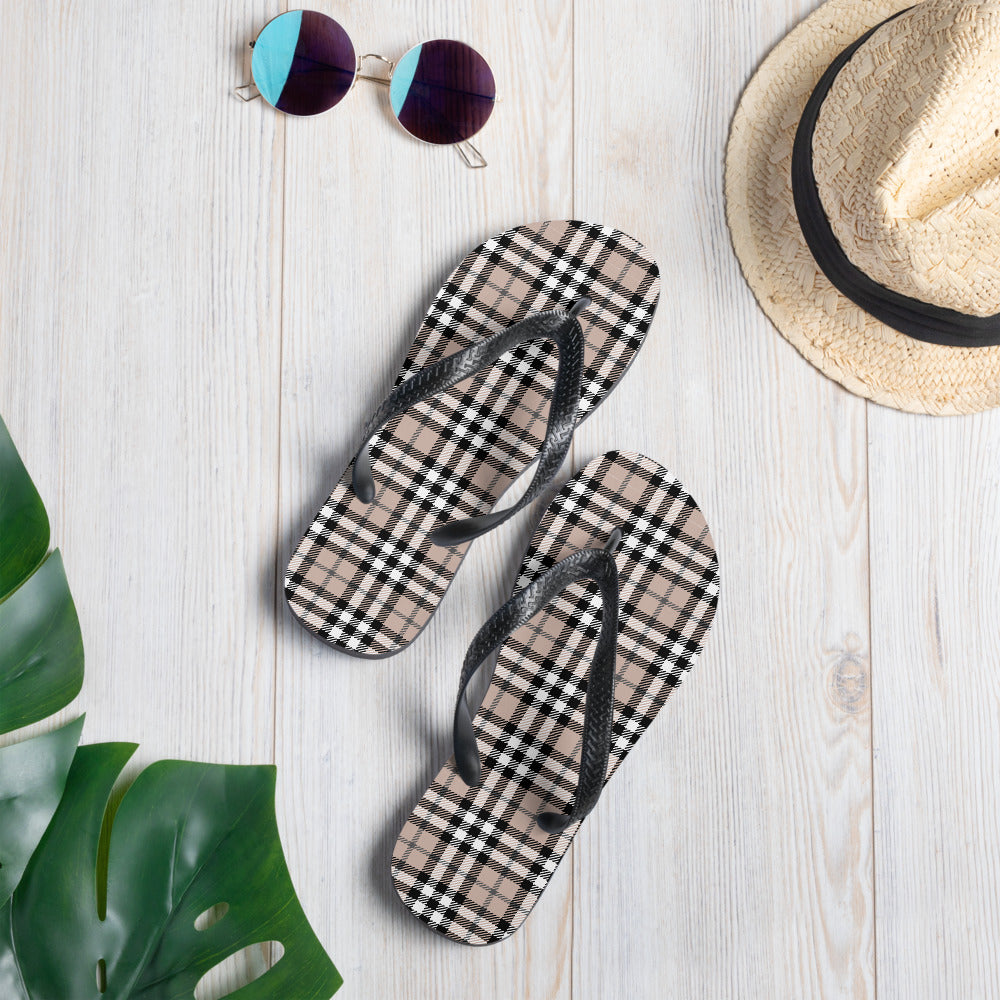 Ethnic Scottish Tartan Flip-Flops