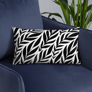 Black Seamless Pattern Throw Pillow