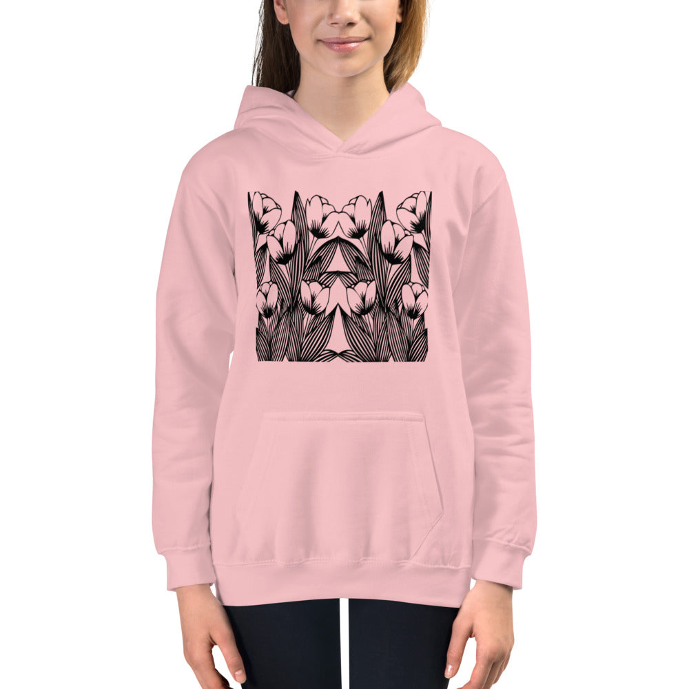 Floral Pink Hoodies for Girls