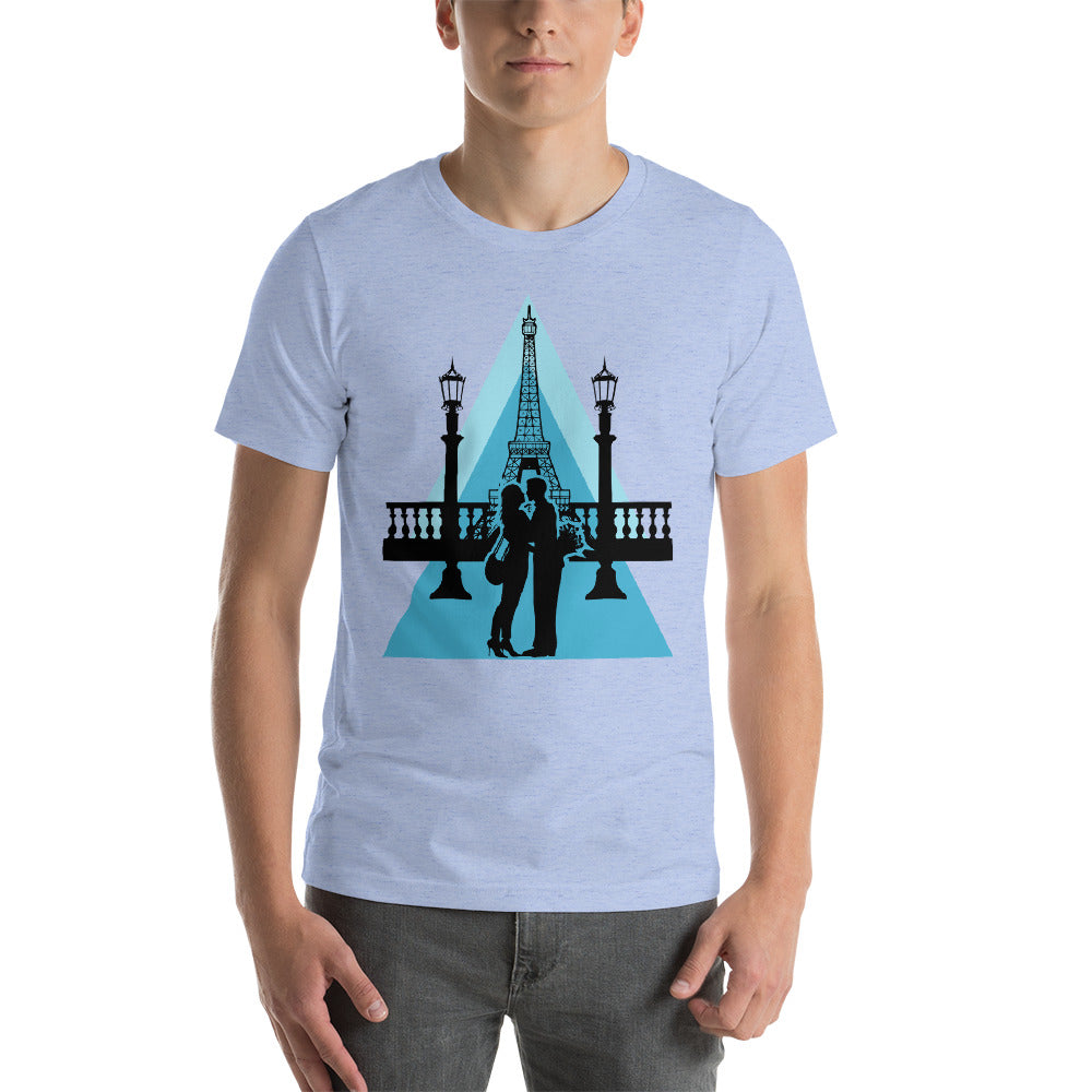Eiffel Tower Valentine T-Shirt Men