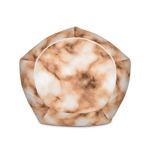 Brown Marble Bean Bag Chair w/ filling