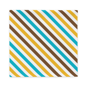 Brown and Yellow Striped Pillow Case