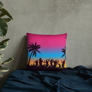 Beach Party Throw Pillow