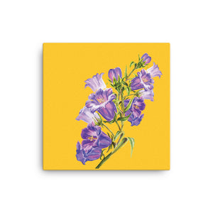Yellow Purple Floral Canvas