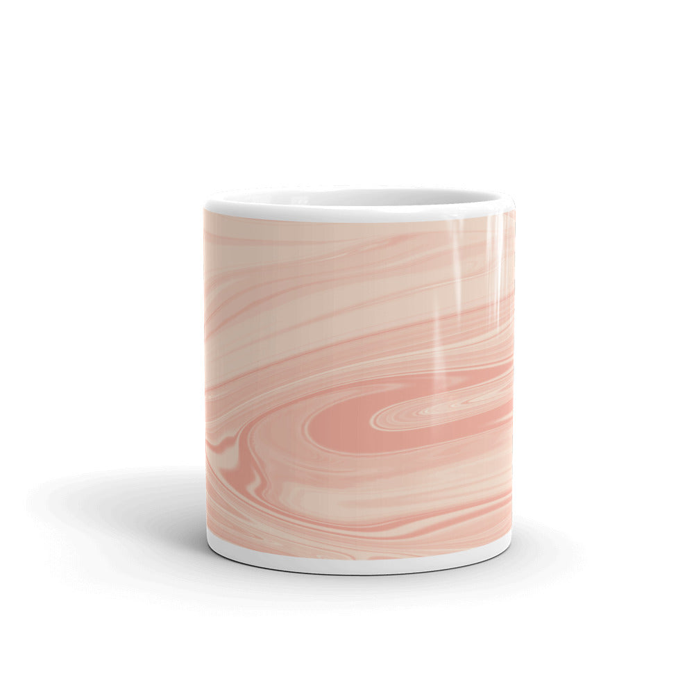 Marble coffee mug peach color