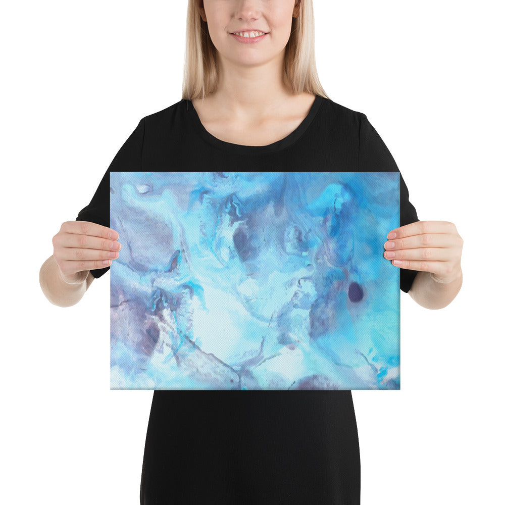 Blue and Purple Marble Canvas