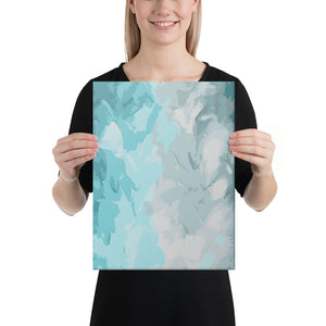 Abstract Sky Blue Canvas