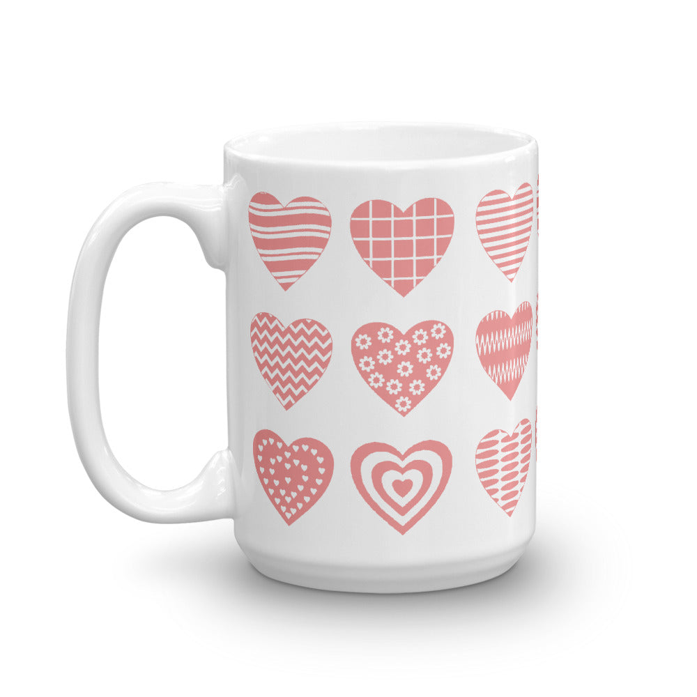 Cute Pink Heart Coffee Mug