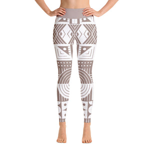 Nude and white Yoga Leggings