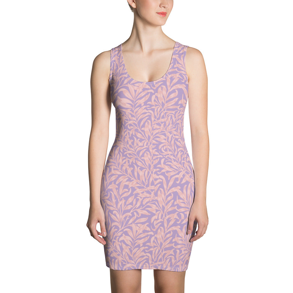 Purple Coral Pink Cute Dress
