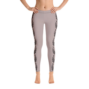 Leggings tattoo designs nude color front