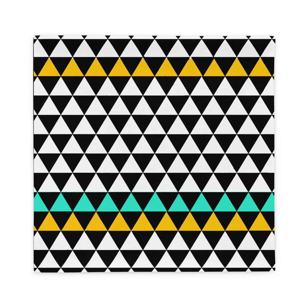 Black Geometric Pattern Pillow Case