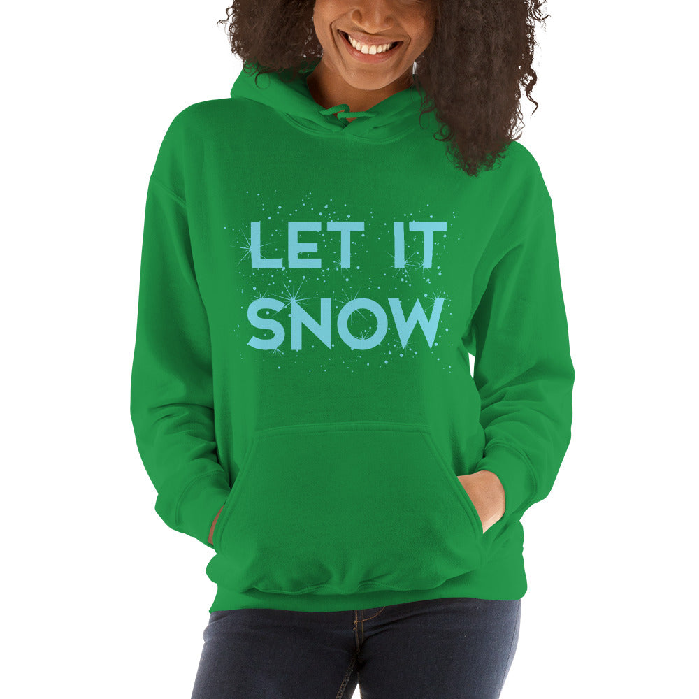 Let It Snow Women's Hoodie Pullover green