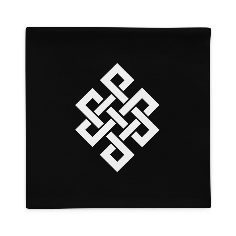Black Traditional Abstract Pillow Case