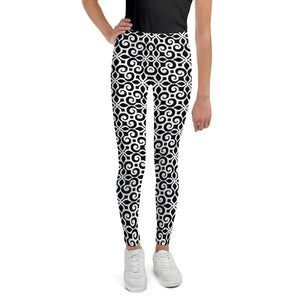 Floral Black Leggings for Girls