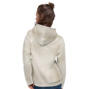 Butterfly Leather Hoodie Womens