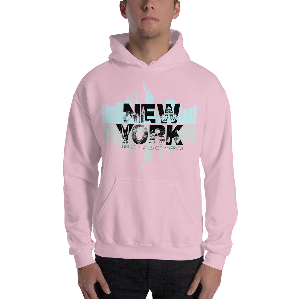 New York Pink Hoodie for Men