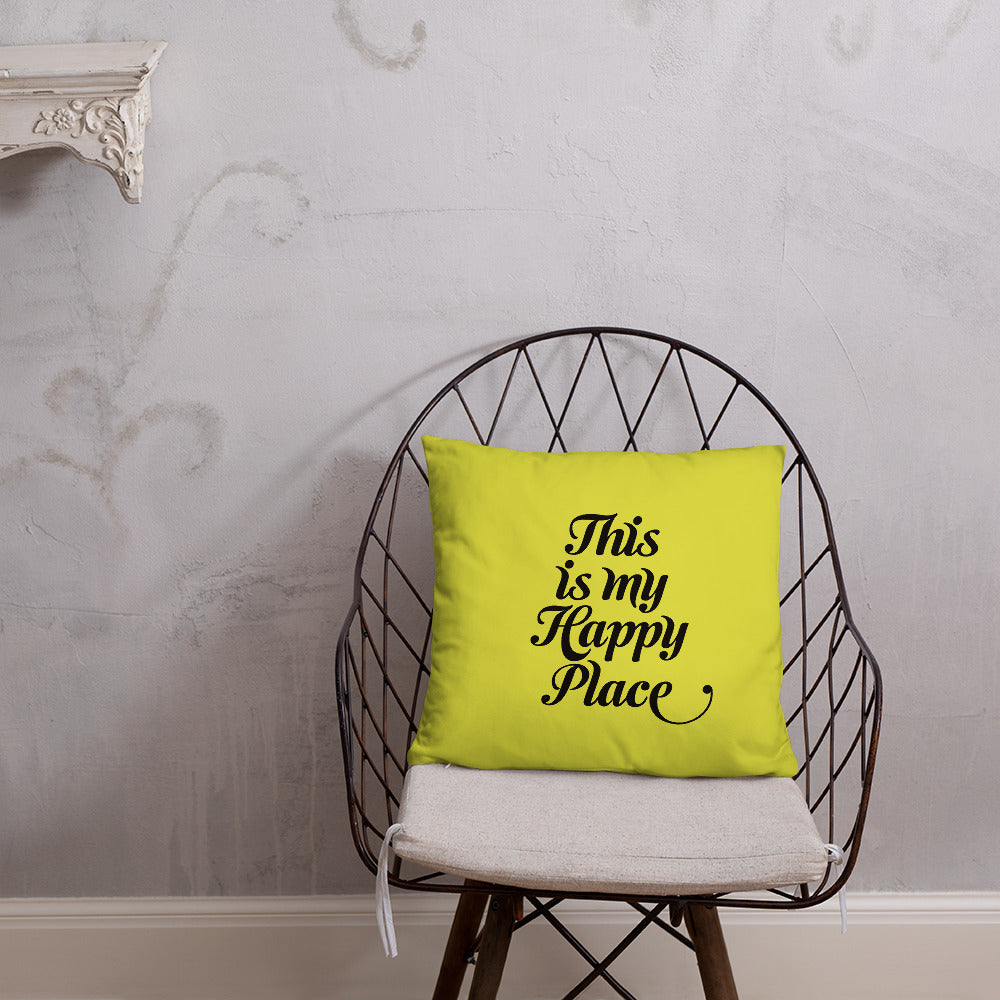 Lemon Yellow Double-sided Throw Pillow