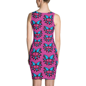 Hot Pink Butterfly Dress