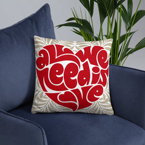 Love double-sided Throw Pillow