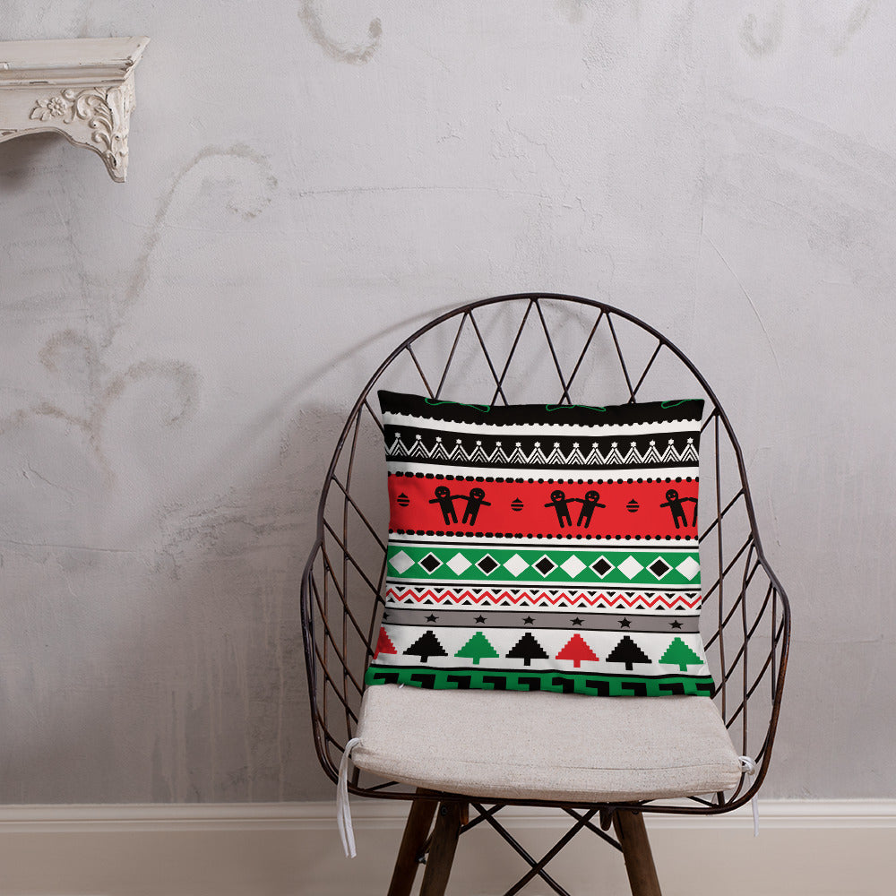 Red Green and White Christmas Double-sided Throw Pillow