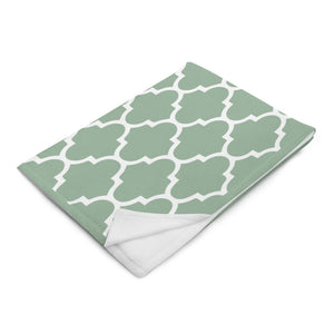 Geometric Seamless Pattern Mint Throw Blanket