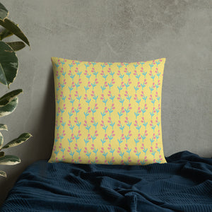 Spring Floral Throw Pillow