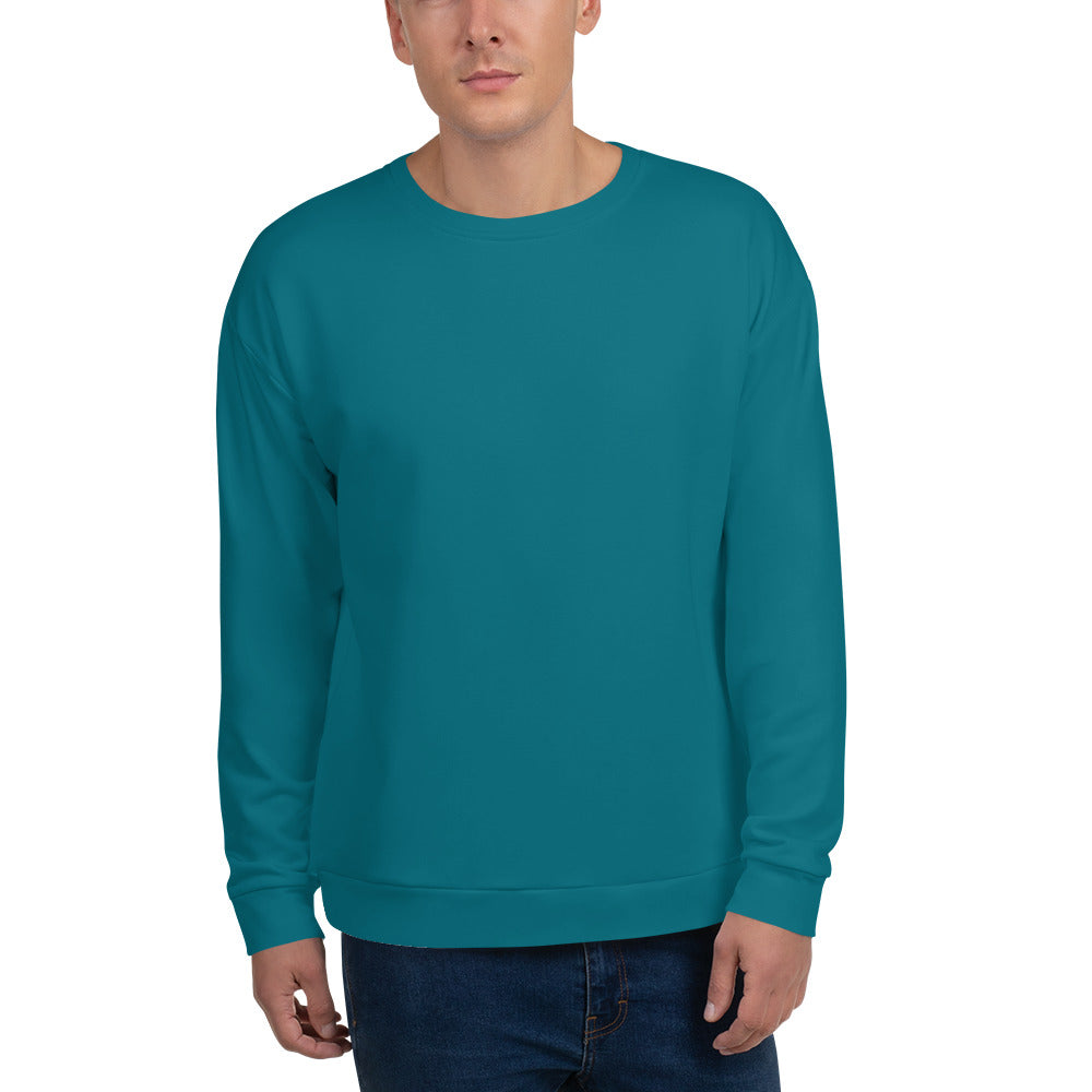 Teal Color Unisex Sweatshirt
