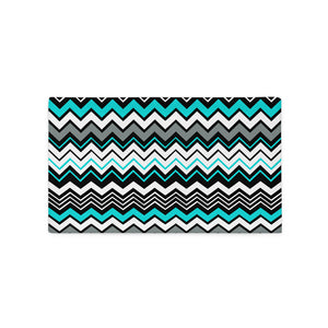 Cyan Abstract Zigzag Pattern Pillow Case
