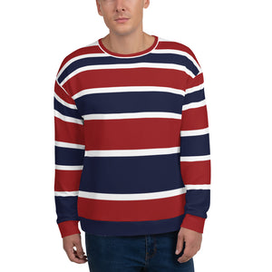 Red & Blue Seamless Sweatshirt for Men