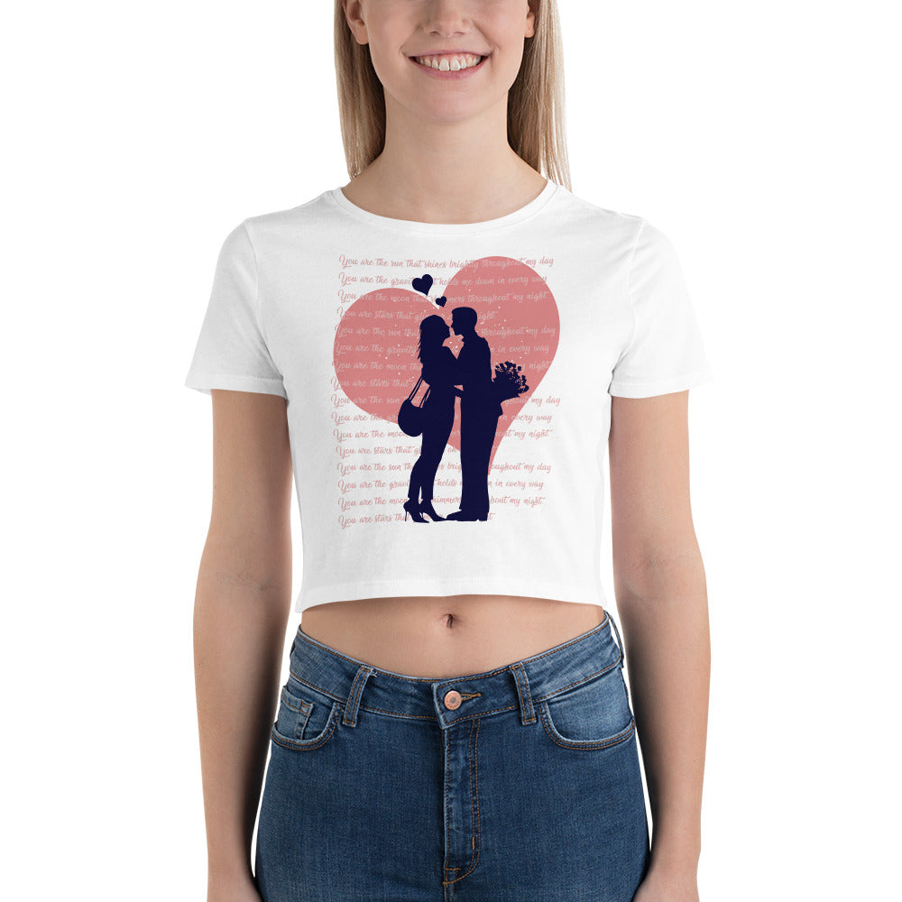 Couple Romance Crop Top for valentine's Day