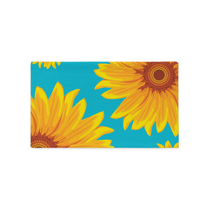 Sunflower Print Pillow Case