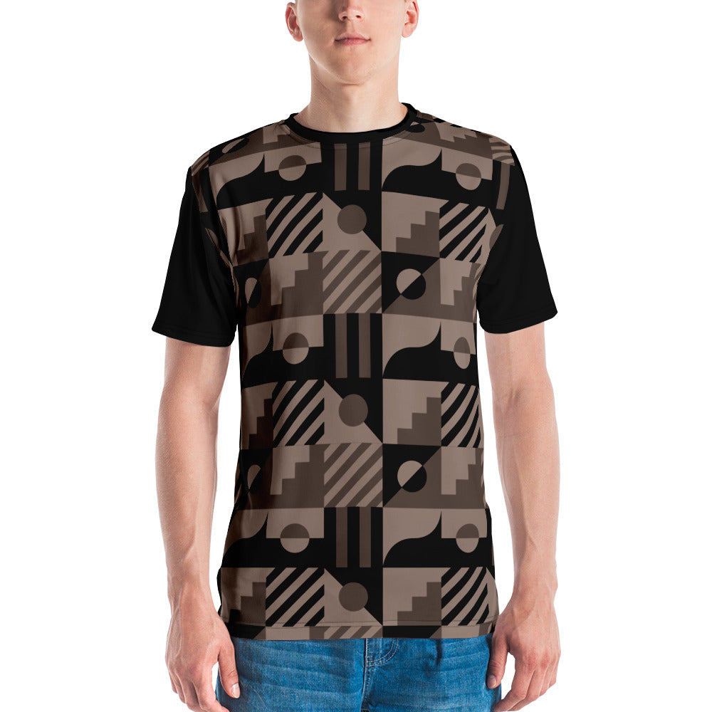 Black Nude Abstract Men's T-shirt