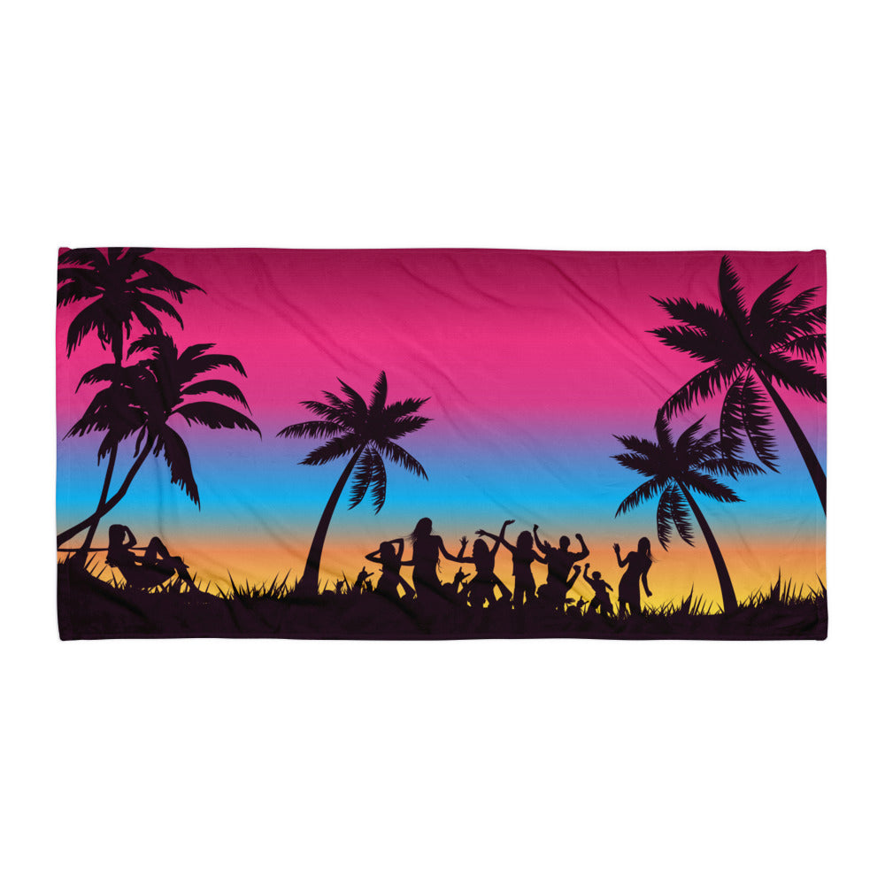 Sunset Beach Party Super Soft Towel