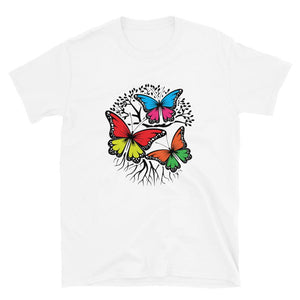 white  T-Shirt with Butterflies