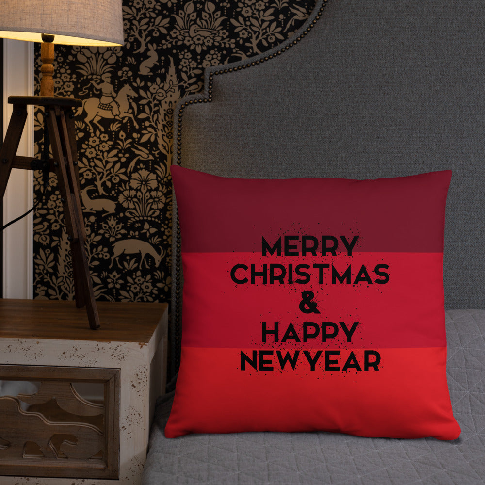 Christmas and New Year Double-sided Throw Pillow