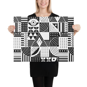 Black and white Abstract Canvas