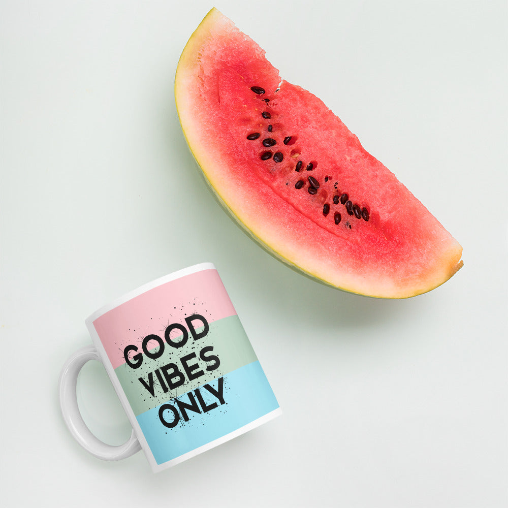 Coffee Mug with Quote - Good Vibes Only