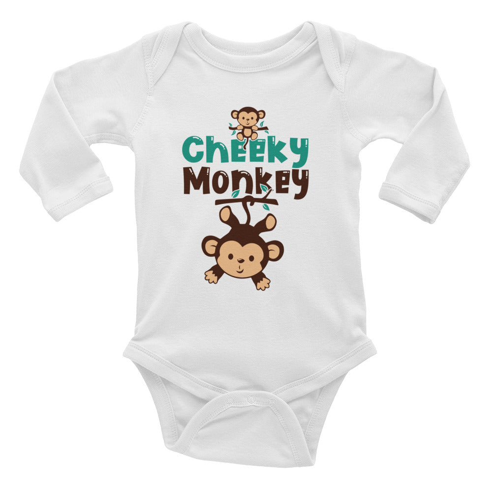 Cheeky Monkey Infant Long Sleeve Bodysuit