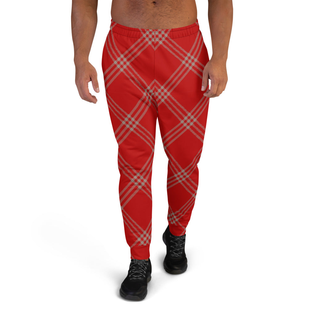 Nude Red Plaid Men's Joggers